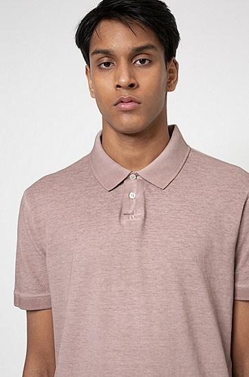Recot²® 棉质珠地布成衣染色 Polo 衫,  239_Light/Pastel Brown