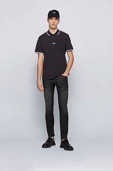 男士休闲纯棉短袖Polo衫,  001_Black
