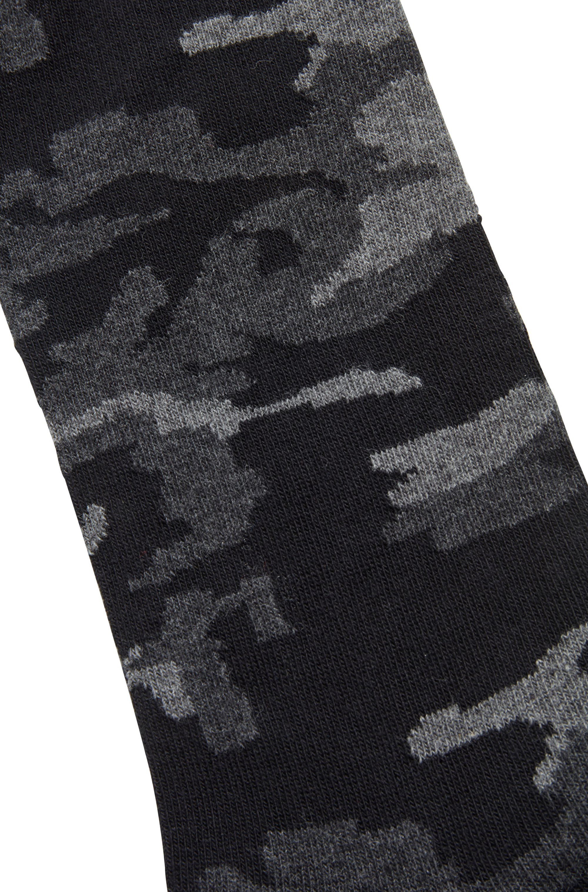 Camouflage regular-length socks in a stretch-cotton blend
