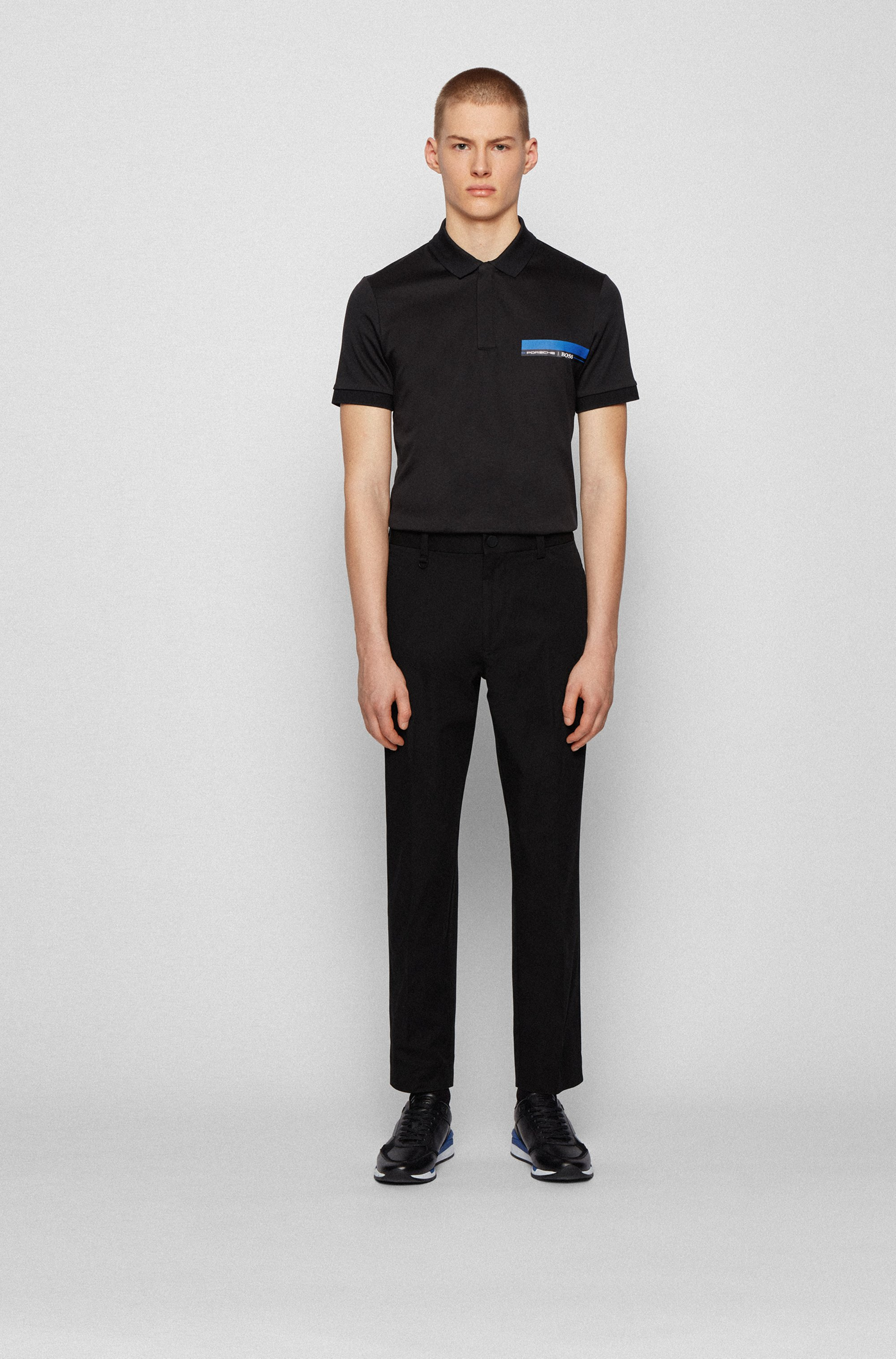 Slim-fit polo shirt in single-jersey cotton