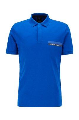 Poloshirt aus Single Jersey, Blau