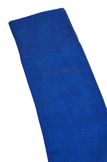棉质混纺面料中长袜三双装,  401_Dark Blue