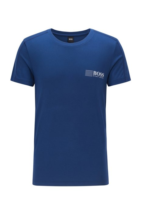 Slim-fit underwear T-shirt with logo print, Blue