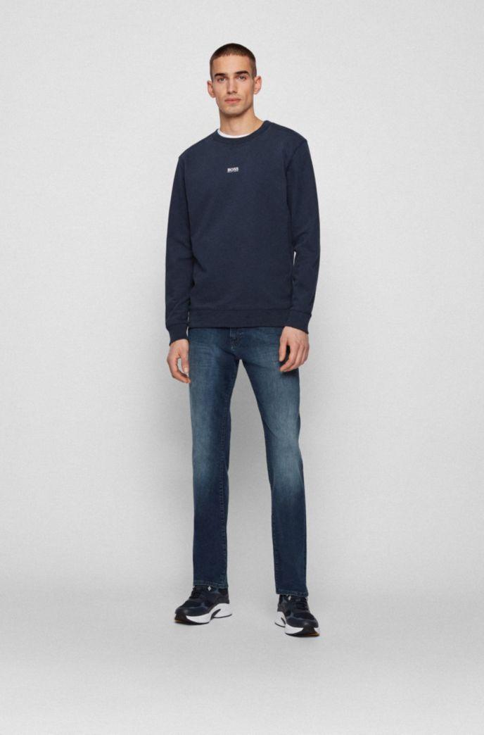 Regular-fit jeans in dark-blue super-stretch denim