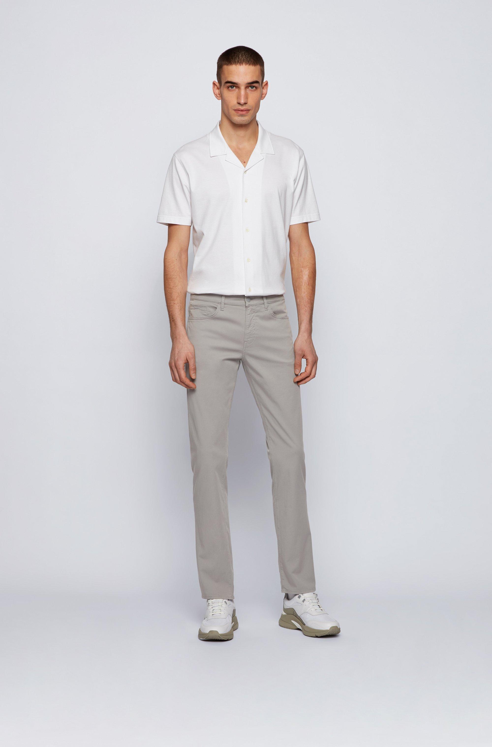 Slim-fit jeans in paper-touch stretch denim