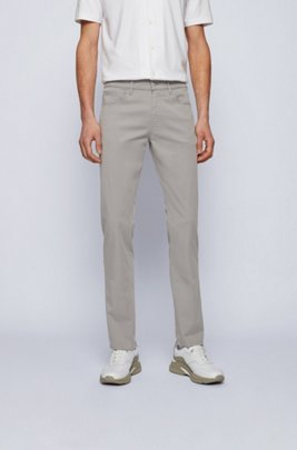 Slim-fit jeans in paper-touch stretch denim, Light Grey