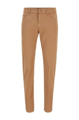 Slim-fit jeans in paper-touch stretch denim, Beige