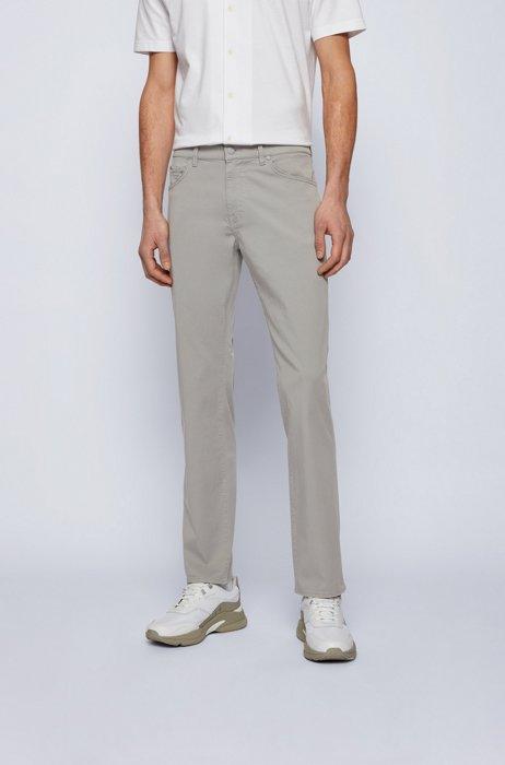 Regular-fit jeans in lightweight paper-touch stretch denim, Light Grey