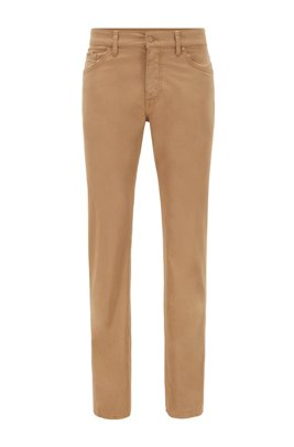 Regular-fit jeans in lightweight paper-touch stretch denim, Beige