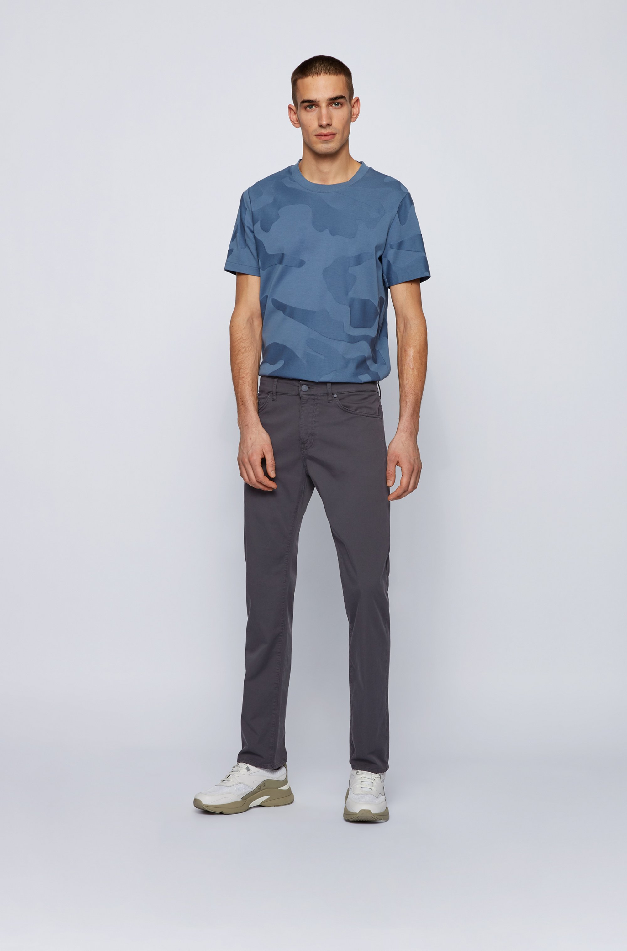 Regular-fit jeans in lightweight paper-touch stretch denim