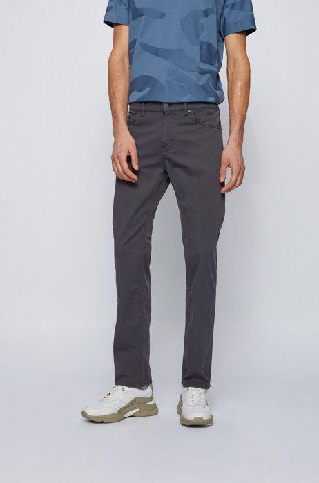 Regular-fit jeans in lightweight paper-touch stretch denim, Dark Blue