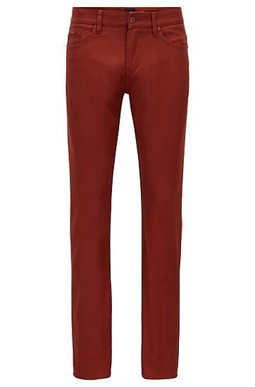 Artikel klicken und genauer betrachten! - BOSS Five-Pocket-Jeans aus elastischer Bio-Baumwolle als Ausdruck unseres Engagements, nachhaltigere Wege für die Fertigung unserer Produkte zu finden.Die zeitgemäße, dunkelblaue Herren-Hose mit mittlerer Bundhöhe und schmalem Beinverlauf ist mit einer dezenten Panama-Webstruktur versehen.Eine spezielle Waschung macht den legeren Style besonders soft.   im Online Shop kaufen