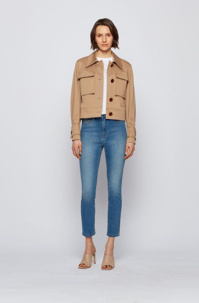 Skinny-fit jeans in bright-blue super-stretch denim