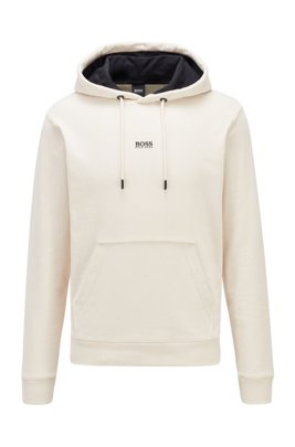 Relaxed-Fit Kapuzen-Sweatshirt aus French Terry mit Logo, Weiß