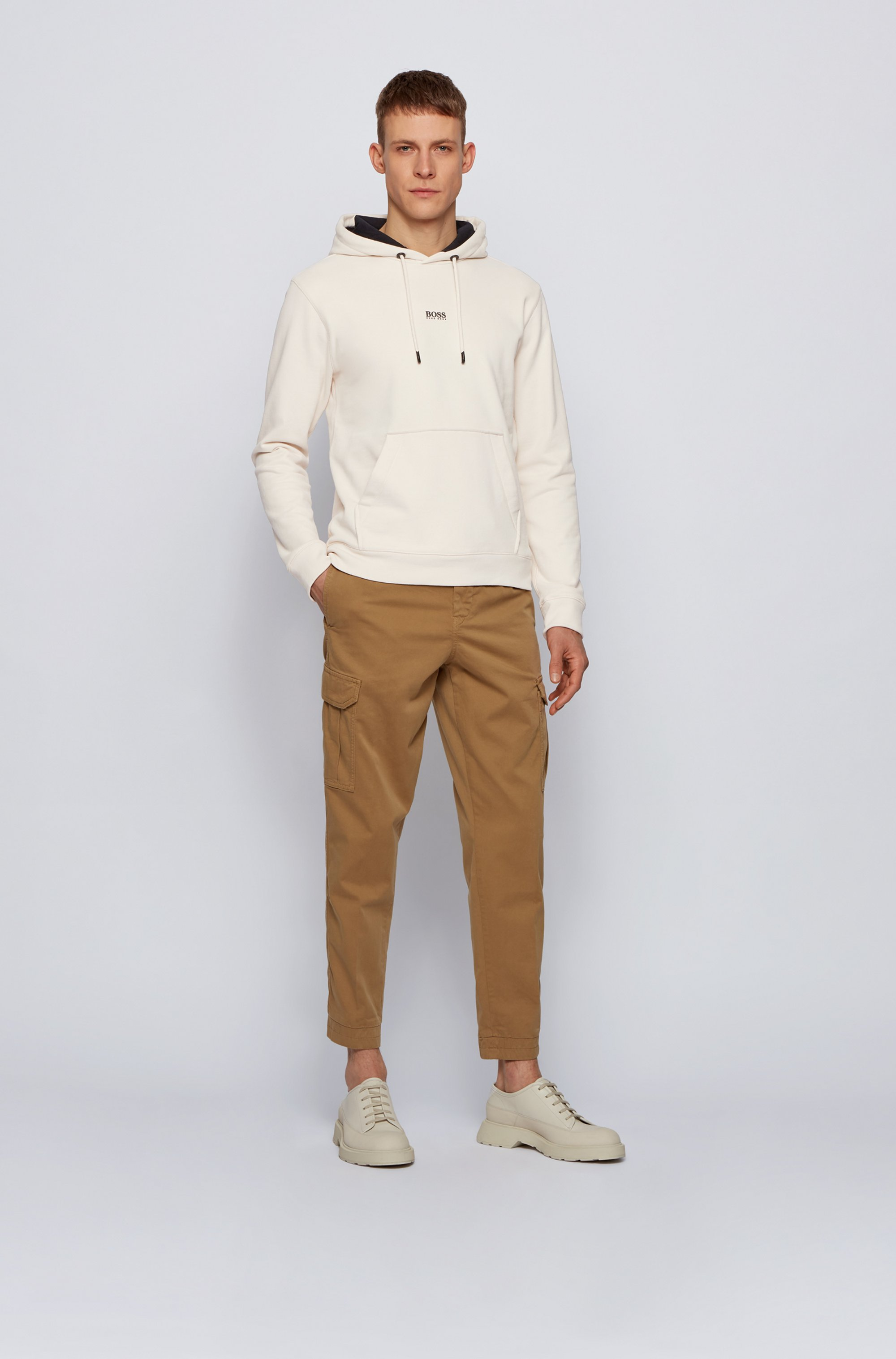 Relaxed-Fit Kapuzen-Sweatshirt aus French Terry mit Logo
