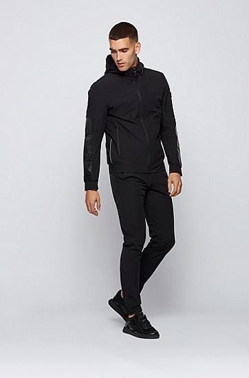 反光细节常规版型防水夹克,  001_黑色