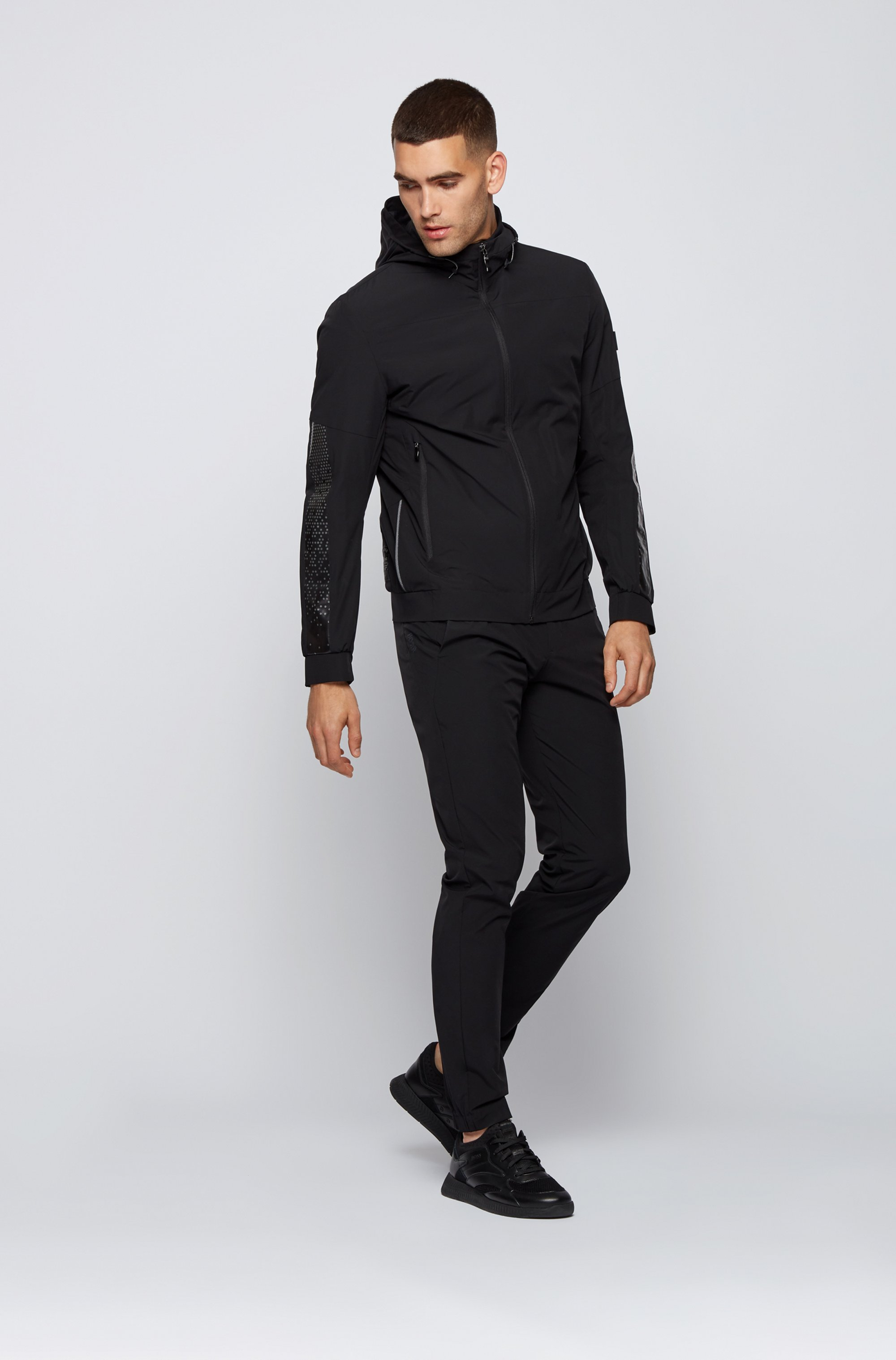 Regular-fit water-repellent jacket with reflective detailing