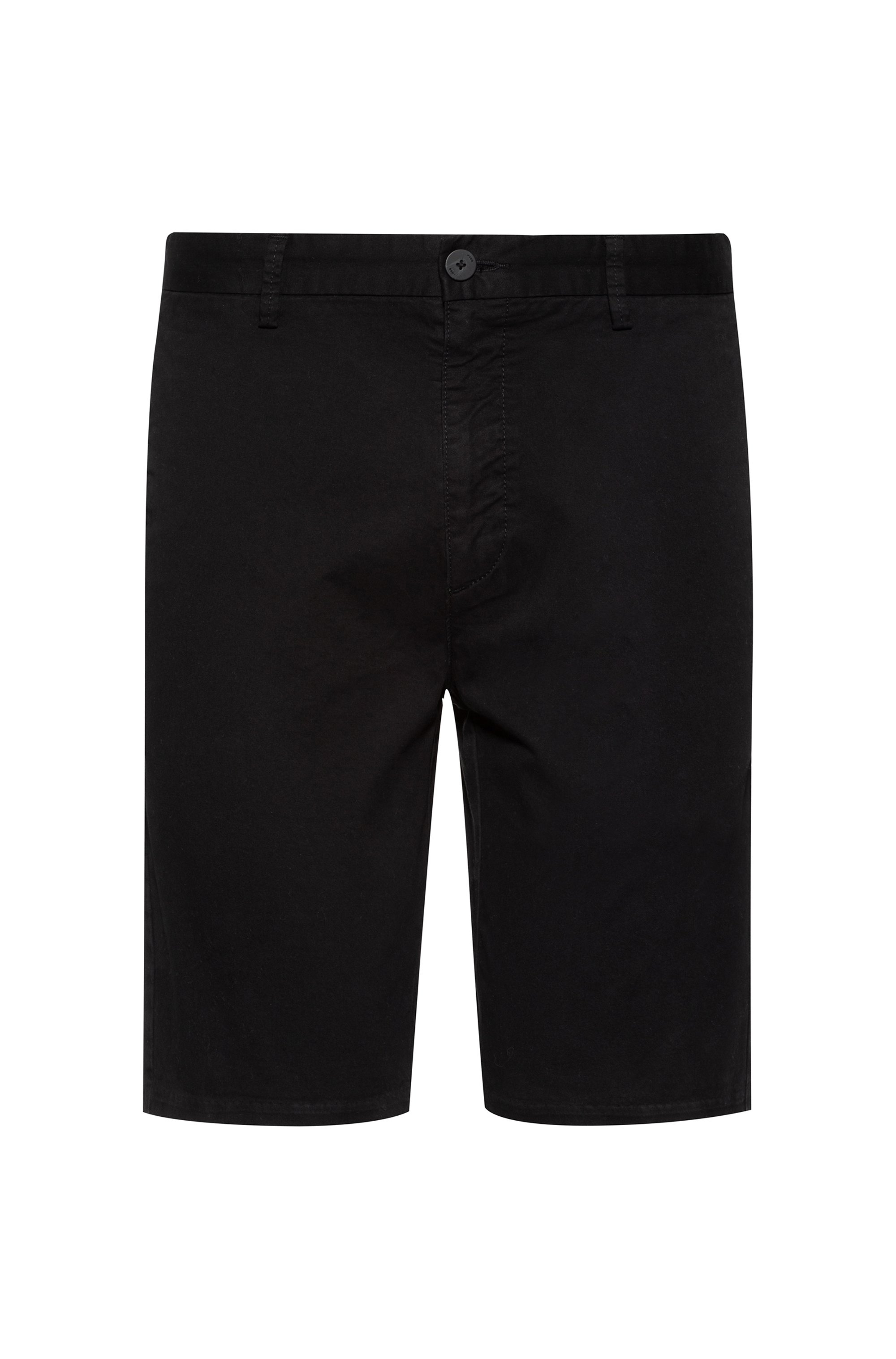 Slim-fit shorts in stretch-cotton gabardine, Black
