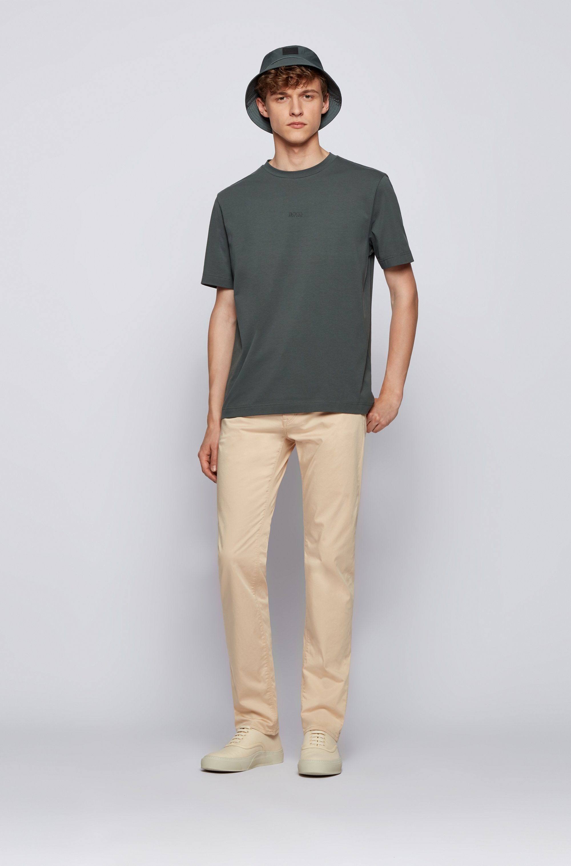 Regular-fit jeans in Italian comfort-stretch denim