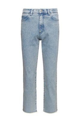 Relaxed-Fit Jeans aus Stretch-Denim mit Acid-Waschung, Blau