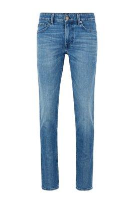 Extra-slim-fit jeans in blue comfort-stretch denim, Blue