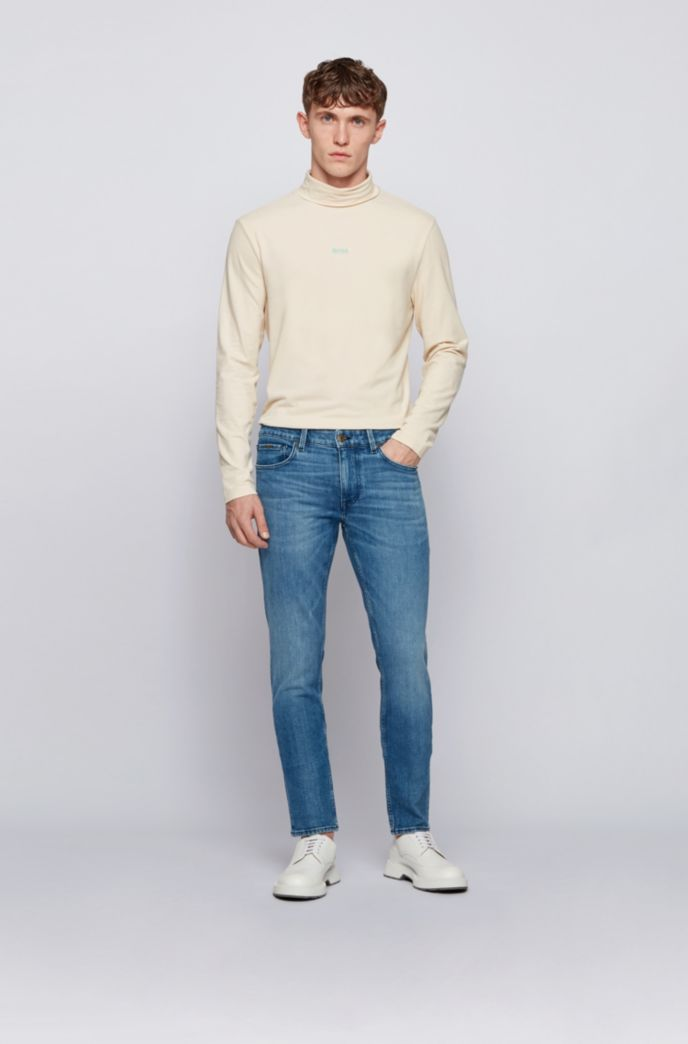 Extra-slim-fit jeans in blue comfort-stretch denim