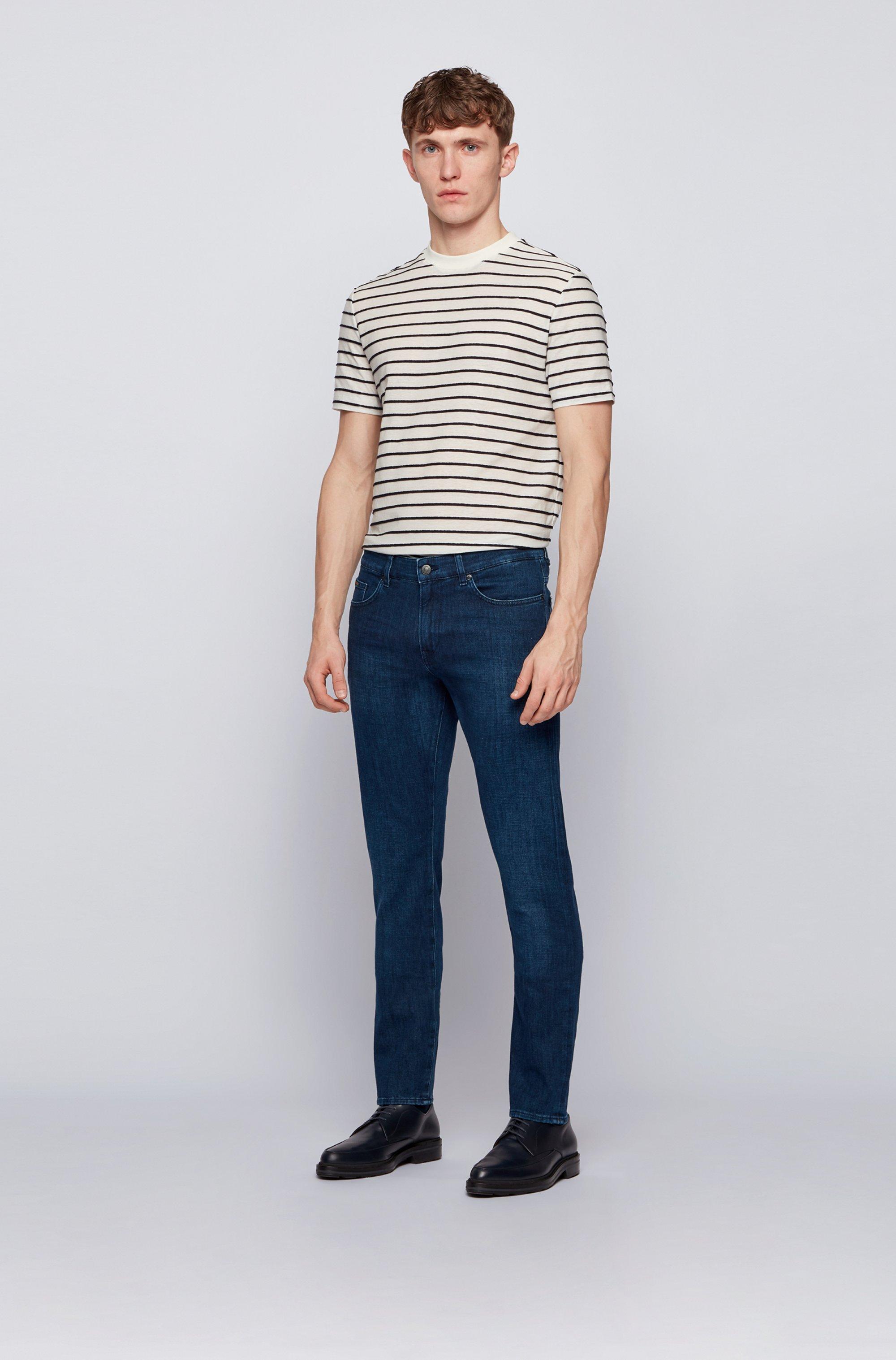 Slim-fit jeans in super-soft navy stretch denim