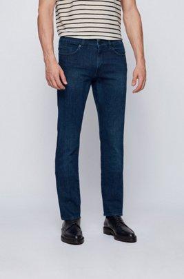 Slim-fit jeans in super-soft navy stretch denim, Dark Blue