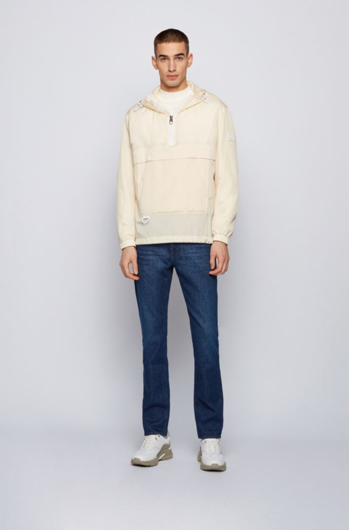 Slim-fit jeans in blue Italian comfort-stretch denim