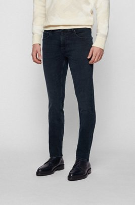 Extra-slim-fit jeans in super-soft stretch denim, Dark Blue