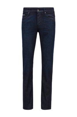 Jeans slim fit in leggero denim elasticizzato blu scuro, Blu scuro
