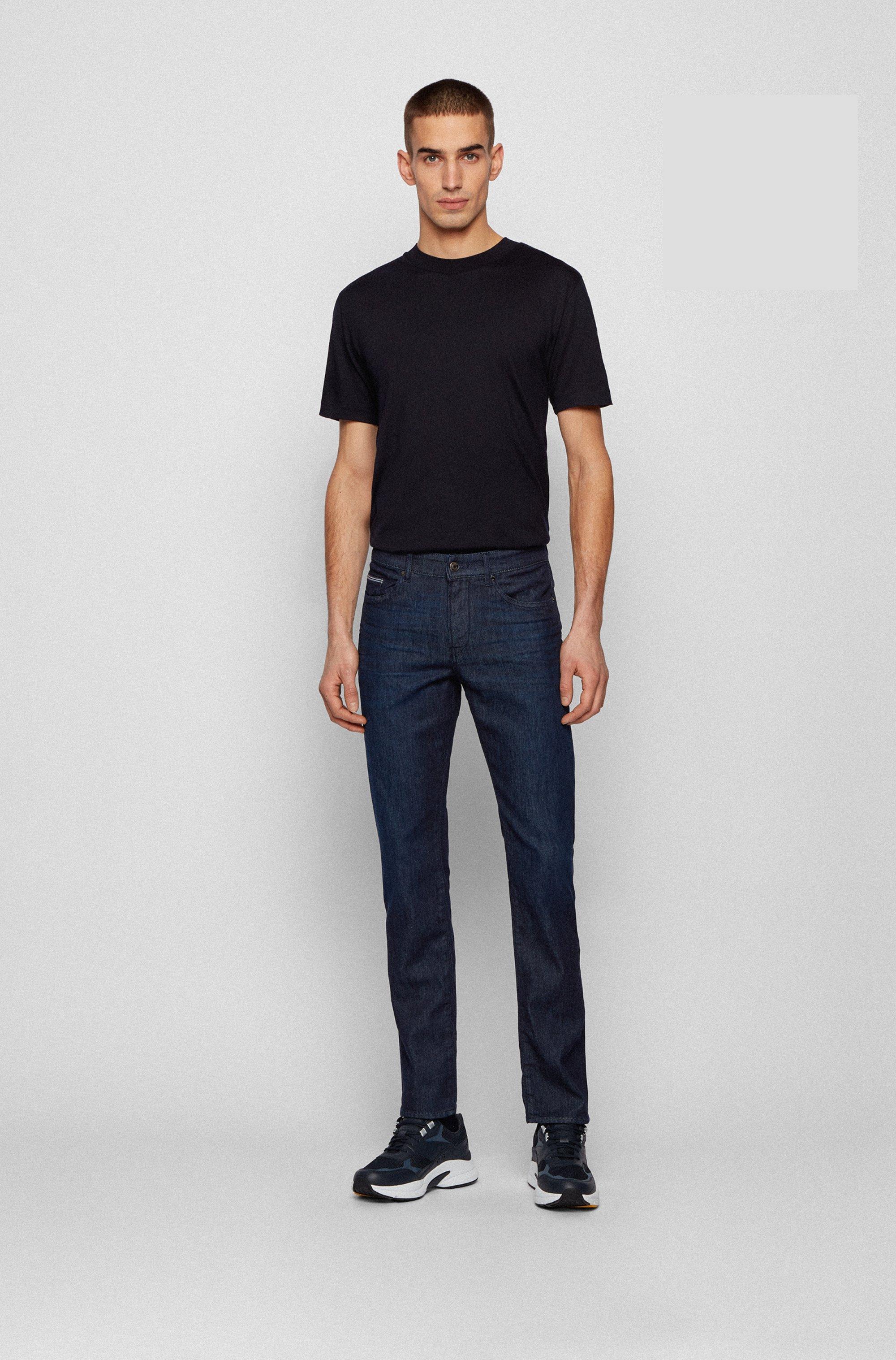 Jeans slim fit in leggero denim elasticizzato blu scuro