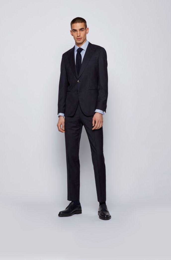Easy-iron slim-fit shirt in organic-cotton dobby
