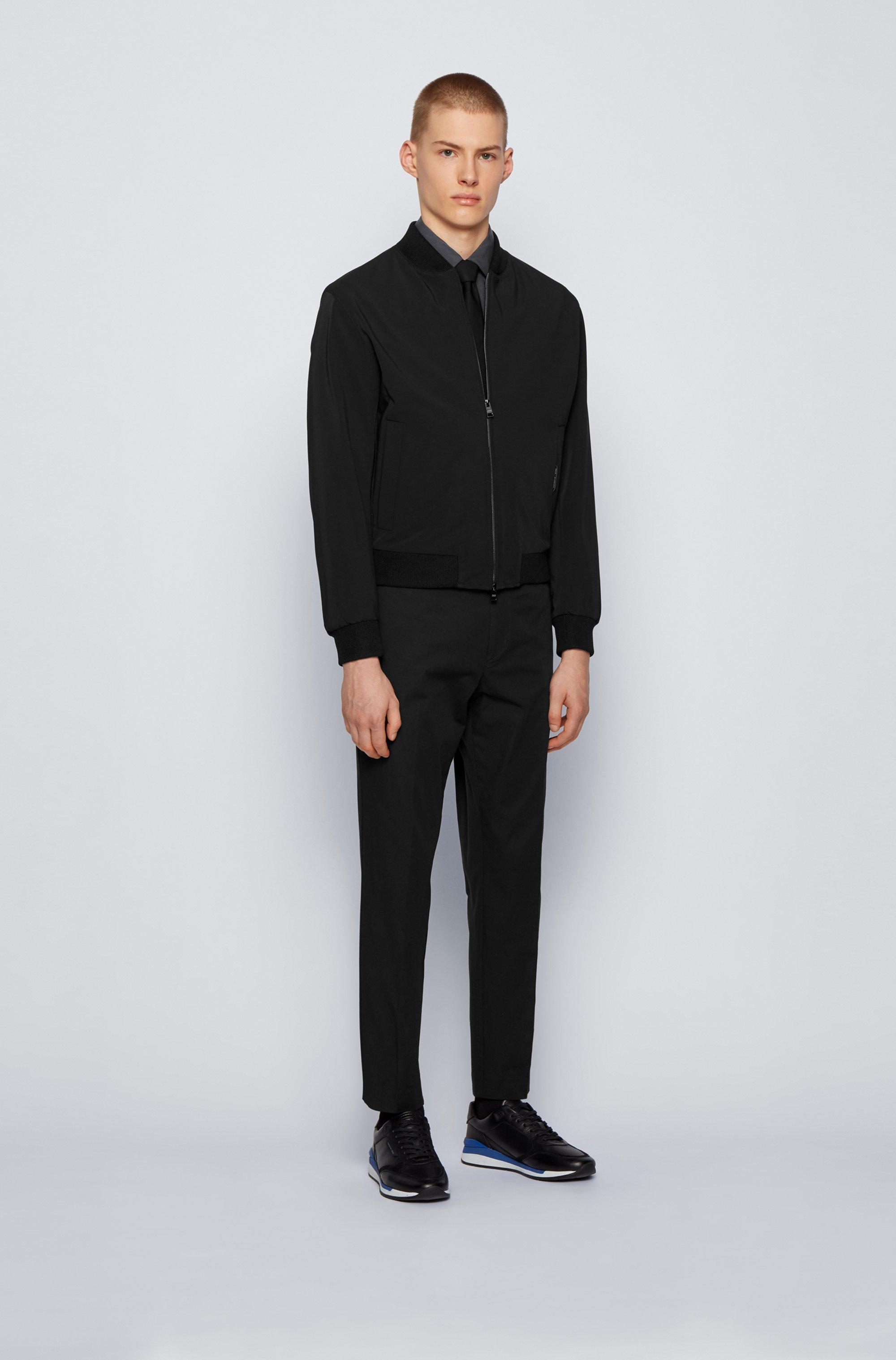 Slim-fit shirt in cotton-blend poplin