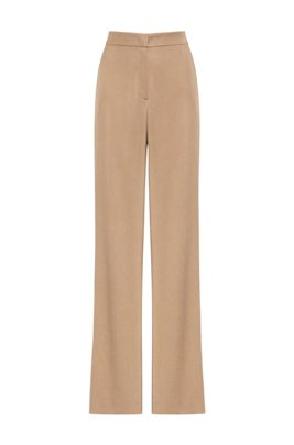 Pantalones de campana relaxed fit de TENCEL™ Lyocell, Beige claro
