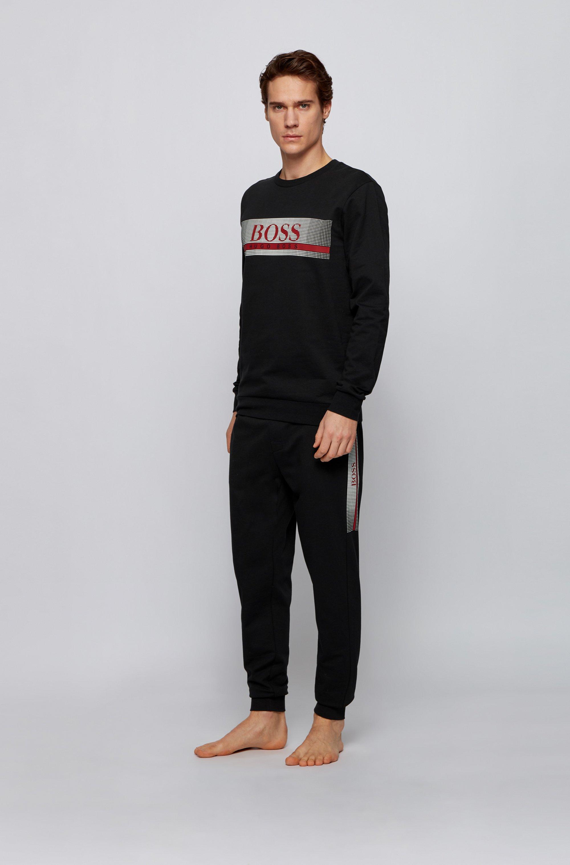 Loungewear-Sweatshirt aus French Terry mit heißversiegeltem Logo