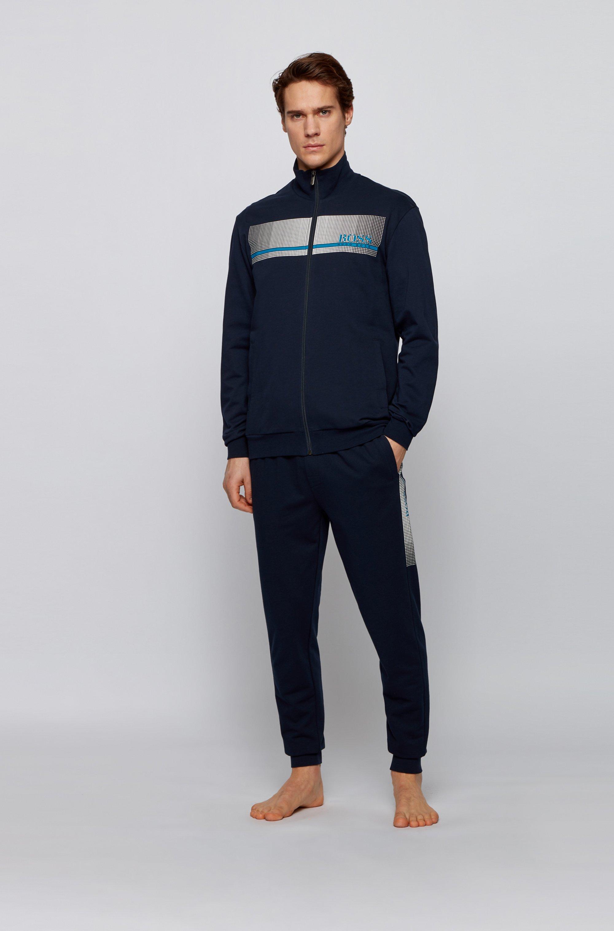 Loungewear-Jacke aus French Terry mit heißversiegeltem Logo