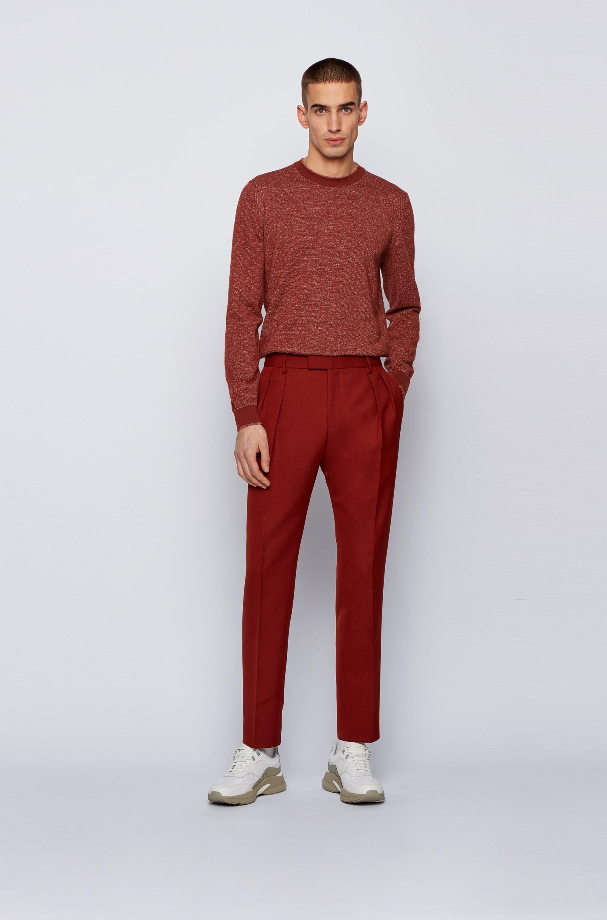 Jersey de lino y algodón con rayas mouliné