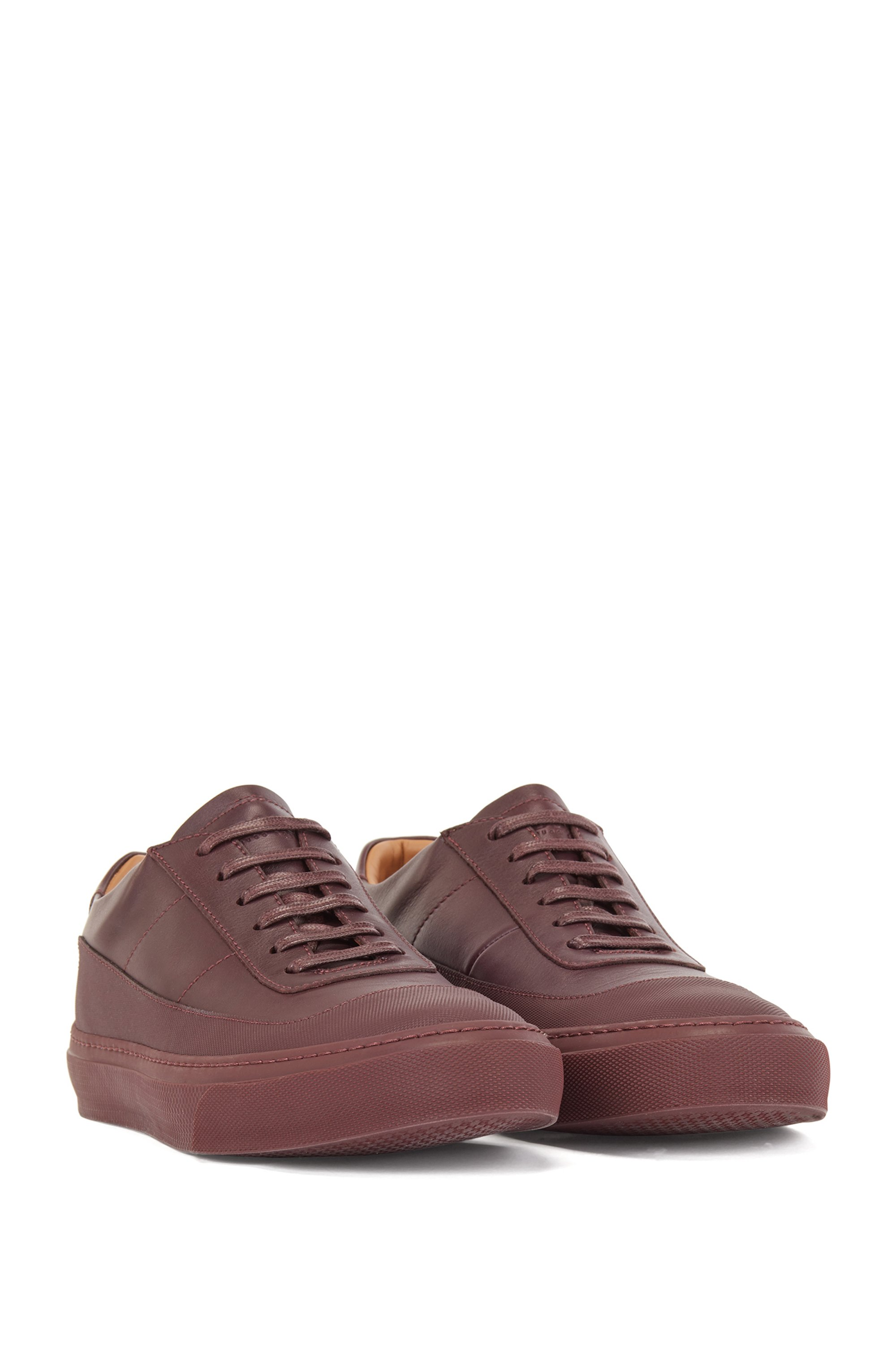 Italian-made low-top trainers in rubberised leather