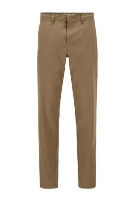 Pantalon Slim Fit en tissu monofibre stretch déperlant, Beige