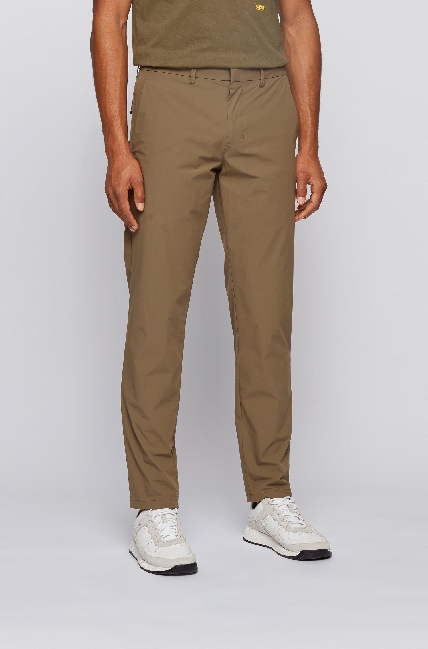 Pantalon Slim Fit en tissu monofibre stretch déperlant, Vert