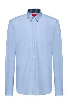 Easy-iron regular-fit shirt in signature cotton poplin, Light Blue
