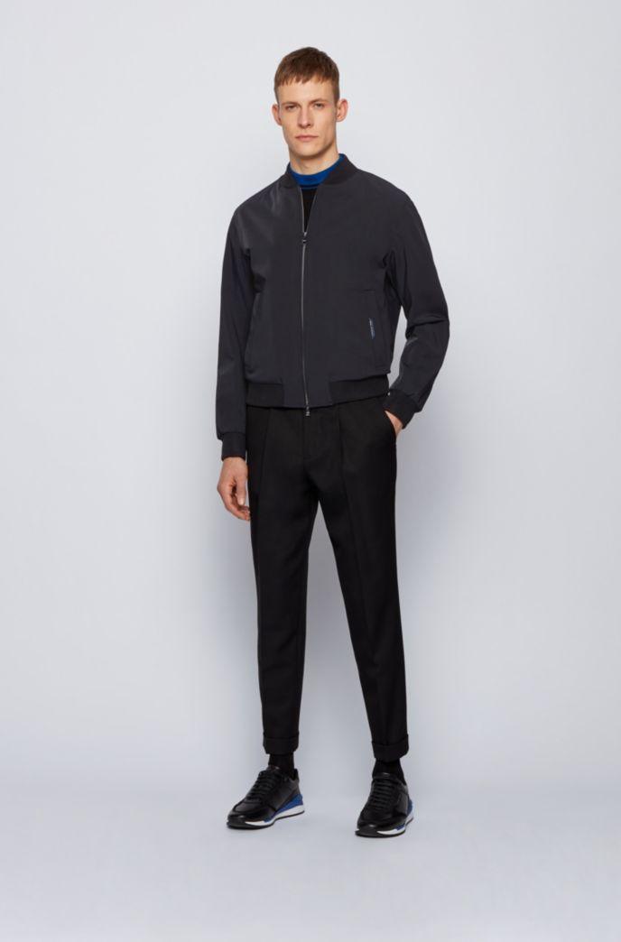 Slim-fit zip-through jacket in stretch fabric