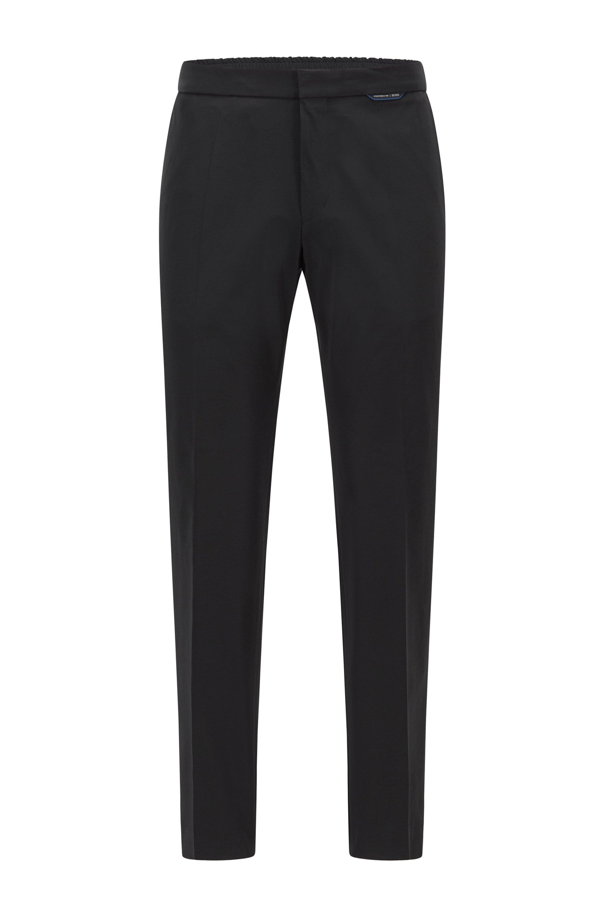 Slim-fit trousers in super-stretch fabric, Black