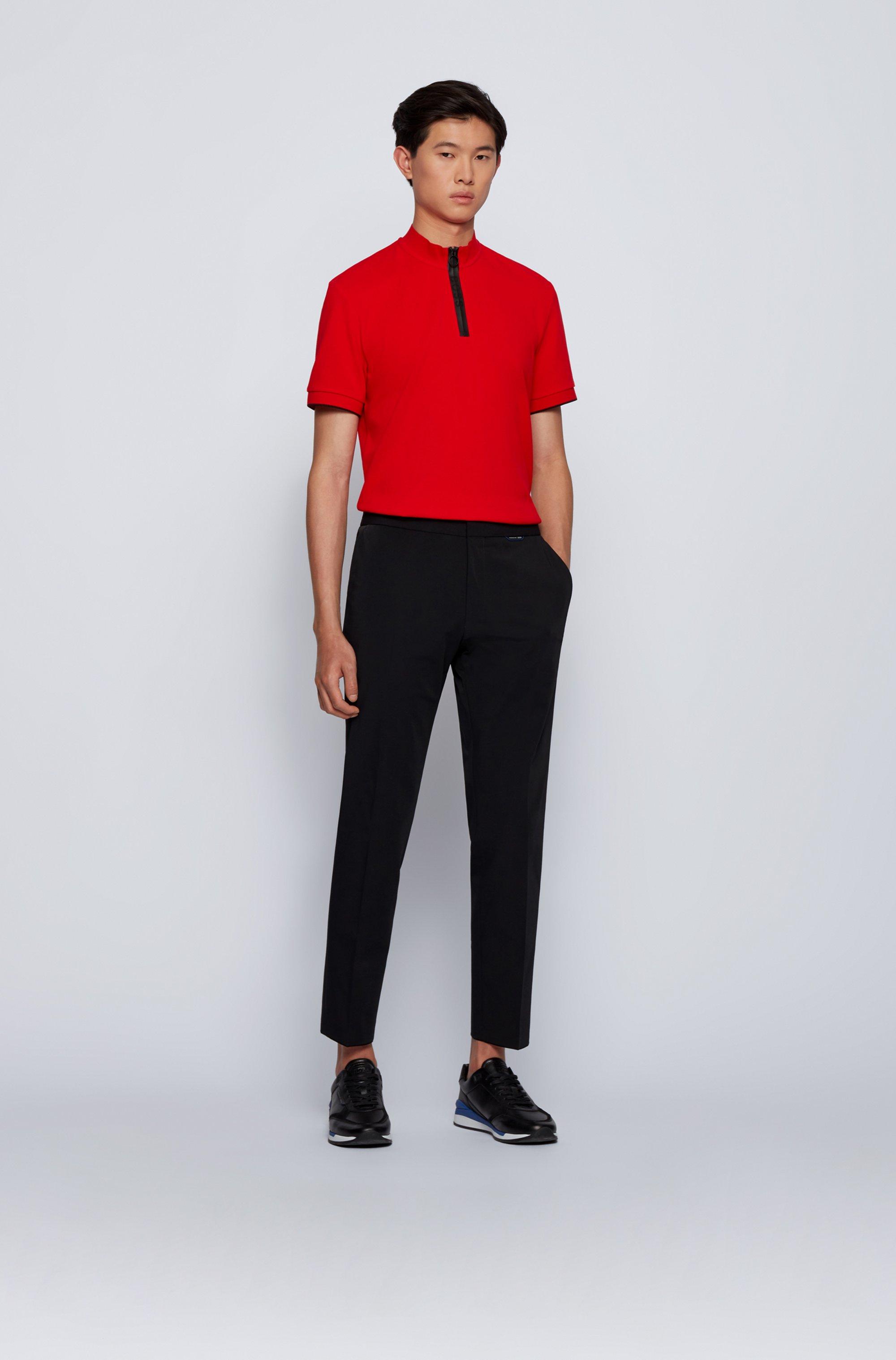 Slim-fit trousers in super-stretch fabric