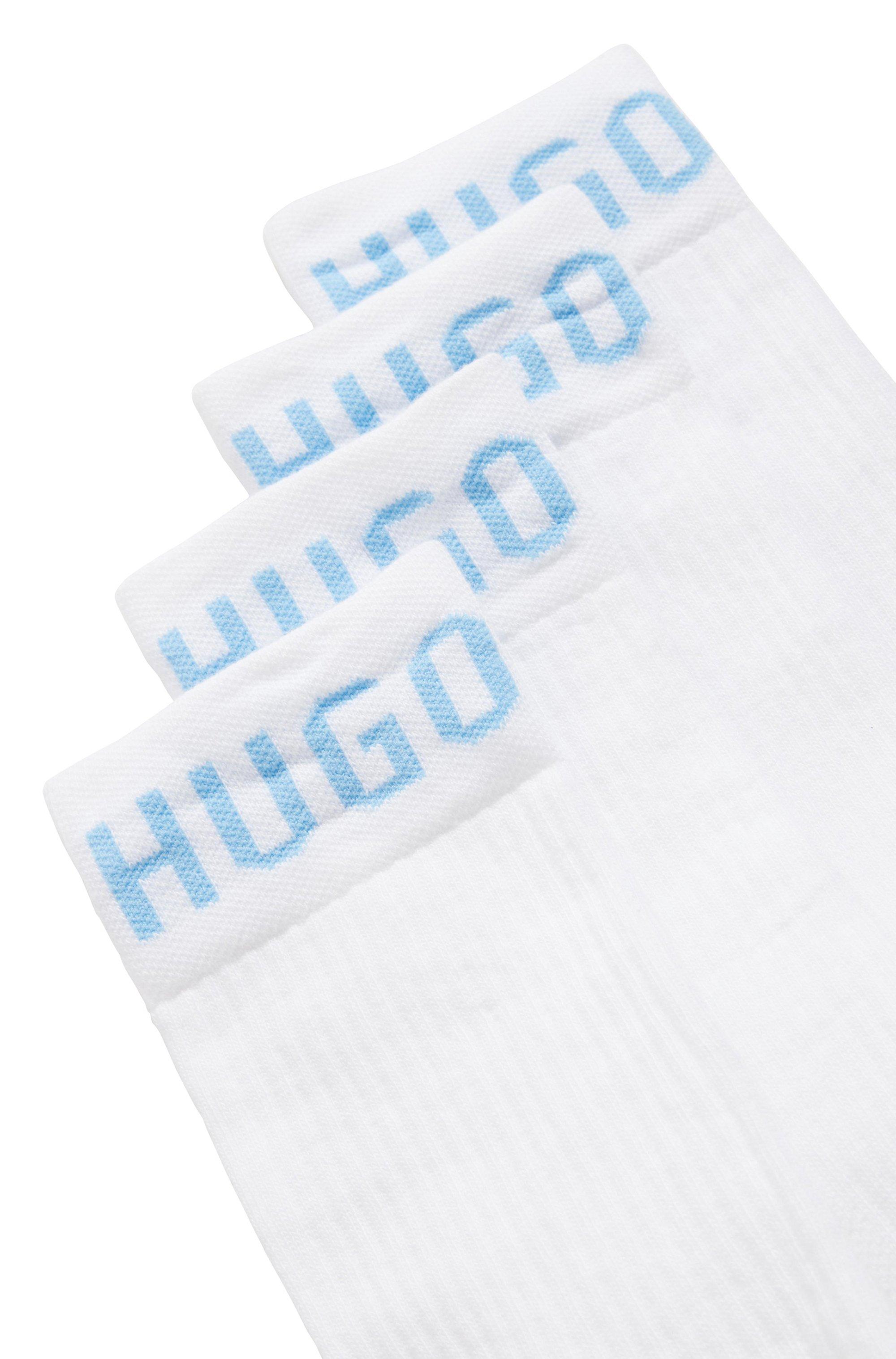 Two-pack of quarter-length cotton-blend socks