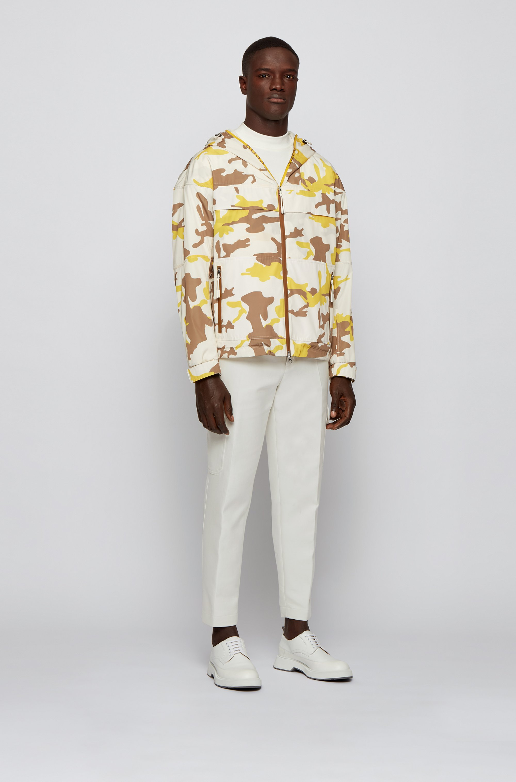 Pantalon cargo Oversized Fit en coton avec anneau en D