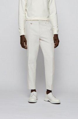 Pantalon cargo Oversized Fit en coton avec anneau en D, Blanc