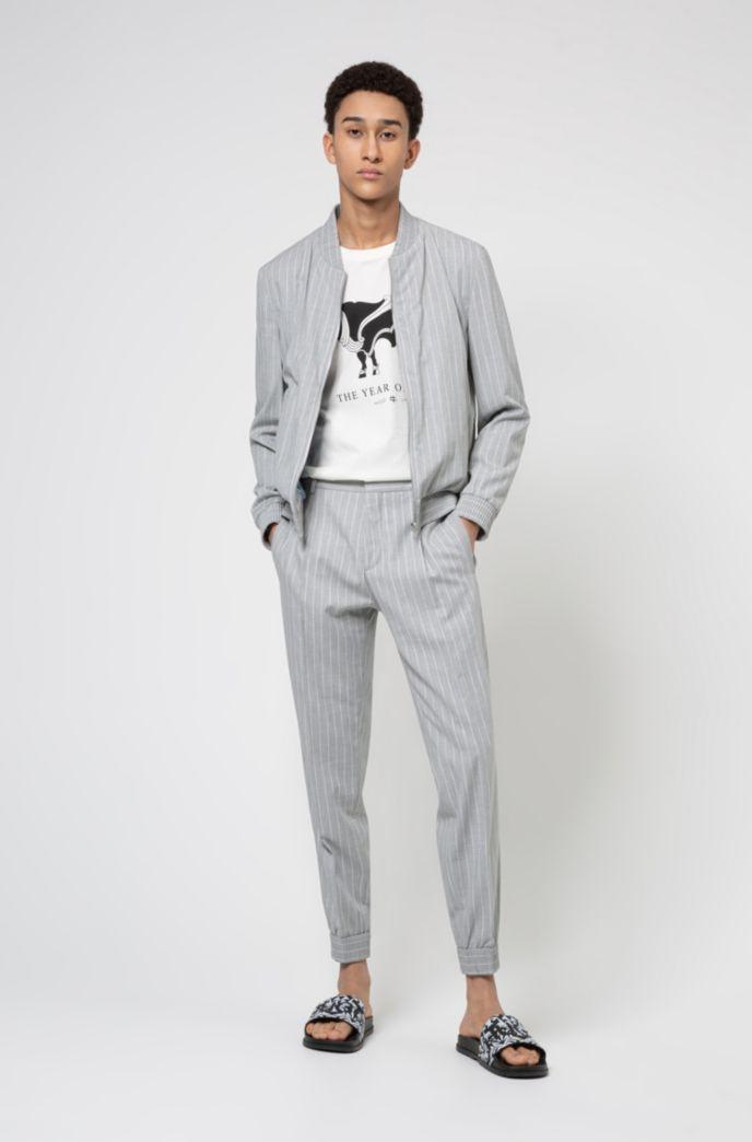 Extra-slim-fit jacket in pinstripe stretch twill
