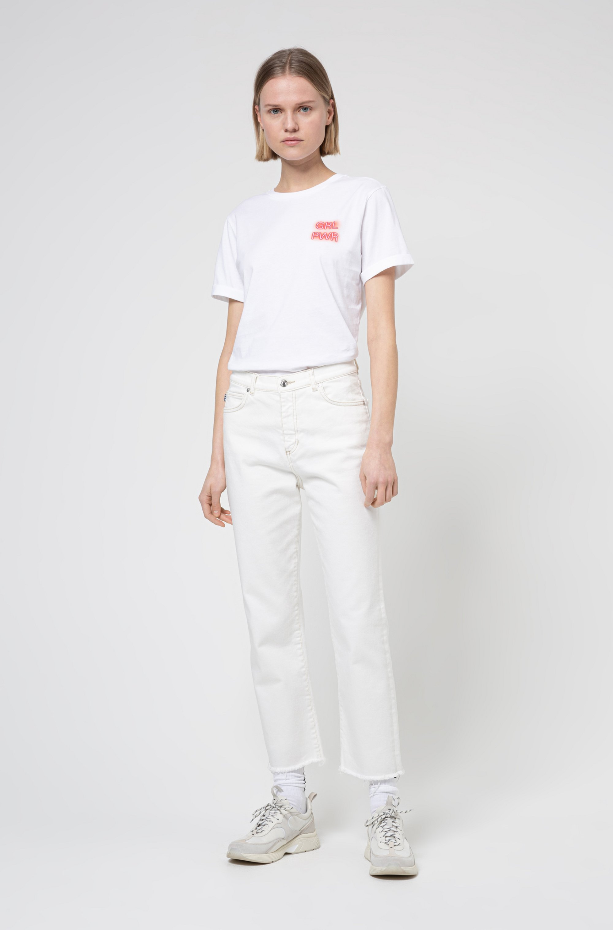 Cotton-jersey T-shirt with collection-themed print